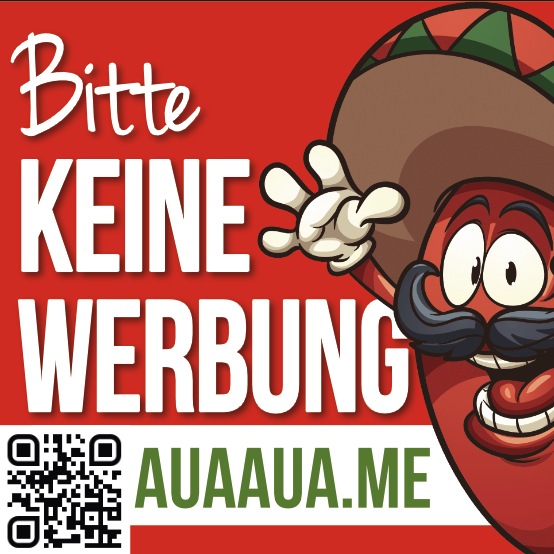 """Aufkleber BITTE KEINE WERBUNG """"EL SCHOTI"""""""