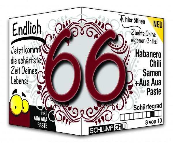 Endlich 66 - Ein scharfes Geschenk zum Geburtstag!