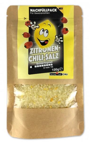 100 g Zitronen Chili Gewürzsalz Nachfüllpack für Gewürzmühlen