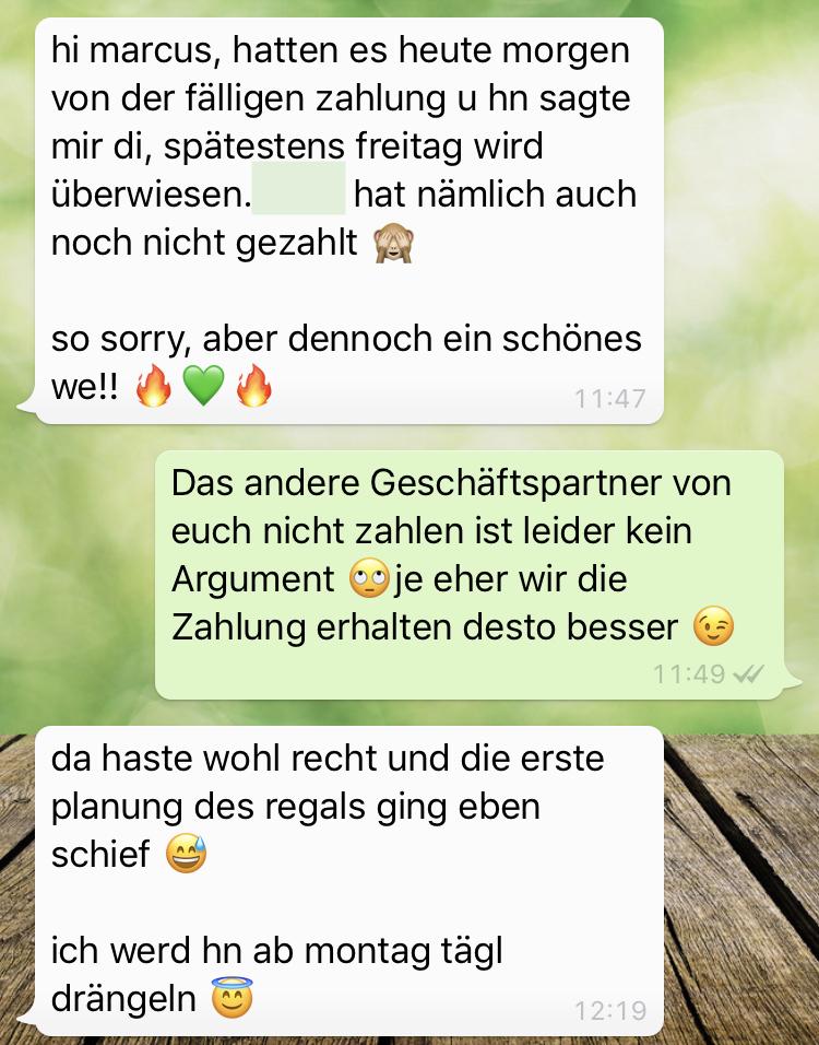 Mahnung-whatsapp