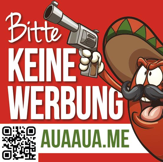 """Aufkleber BITTE KEINE WERBUNG """"Käptn Koma"""""""