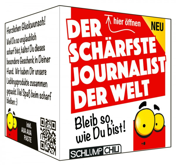 Der schärfste Journalist der Welt - Ein witziges Geschenk!
