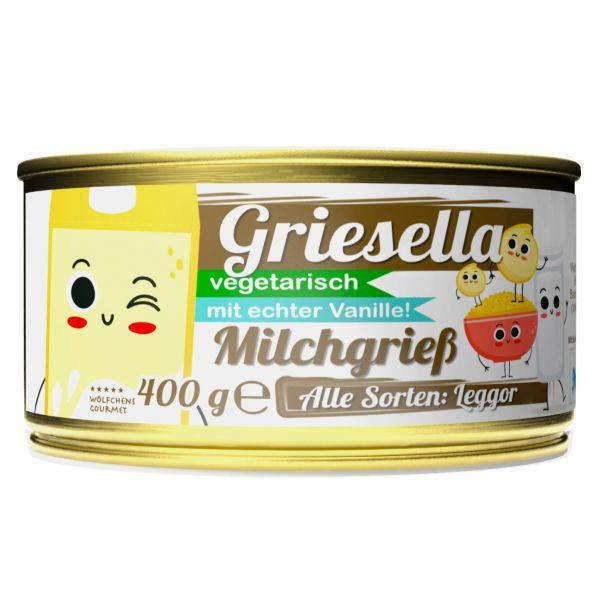 GRIESELLA⎪Milchgrieß in der Dose - Grießbrei Fix & Fertig⎪Mit echter Vanille, Zimt & Limettenzeste