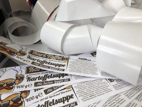 Etikett-Recycling-Material