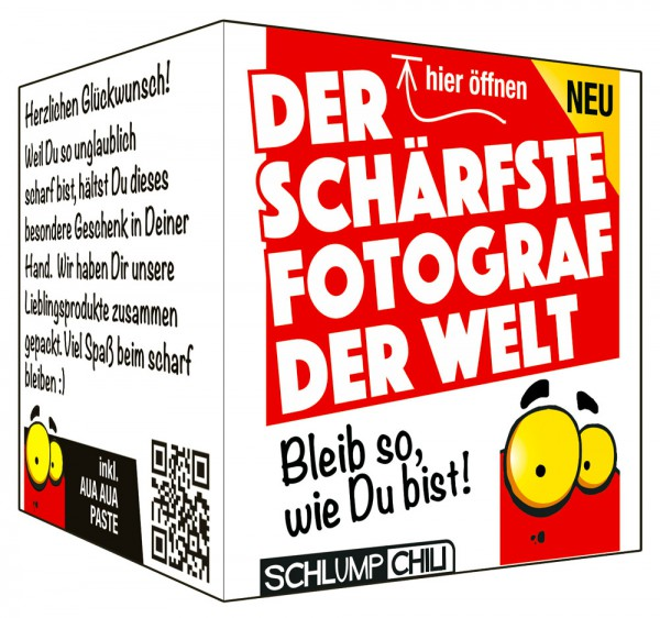 Der schärfste Fotograf der Welt - Ein witziges Geschenk!