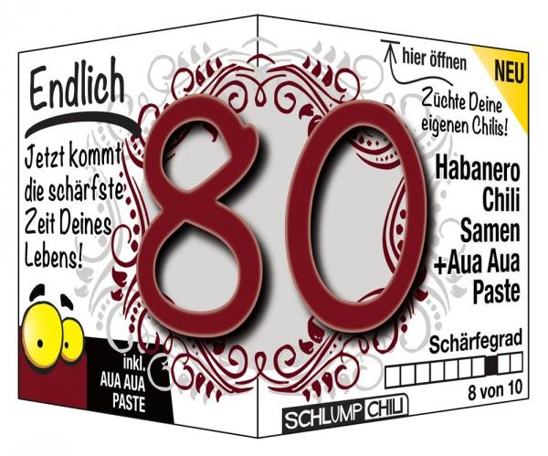 Endlich 80 - Ein scharfes Geschenk zum Geburtstag!