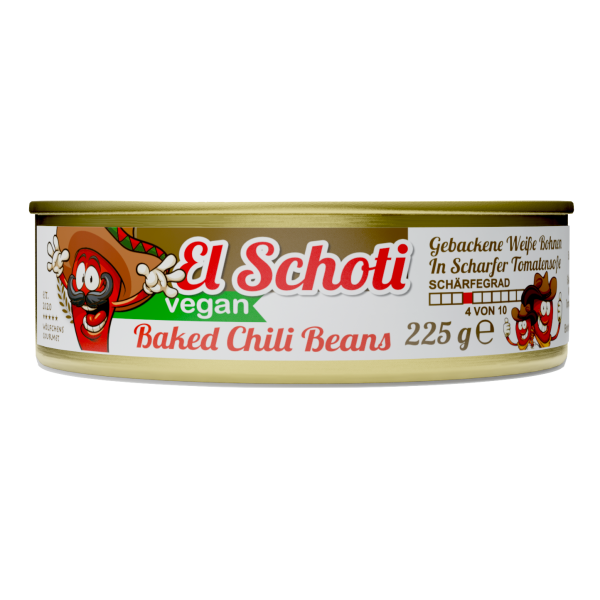BAKED EL SCHOTI CHILIBEANS⎪Gebackene Weiße Bohnen in leicht scharfer Tomatensoße (1 x 225g)