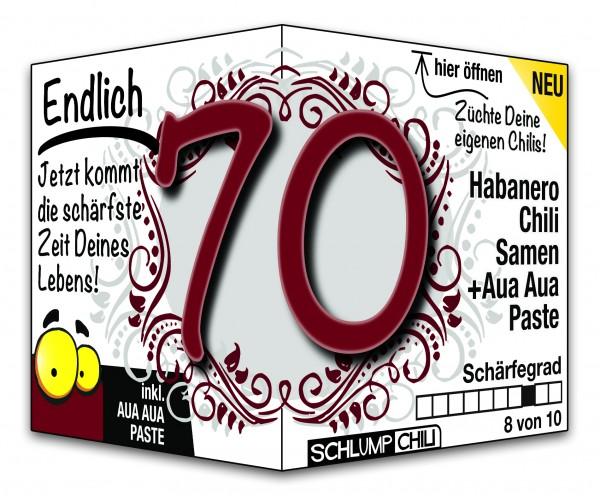 Endlich 70 - Ein scharfes Geschenk zum Geburtstag!