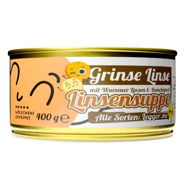 GRINSE LINSE Linsensuppe in der Dose