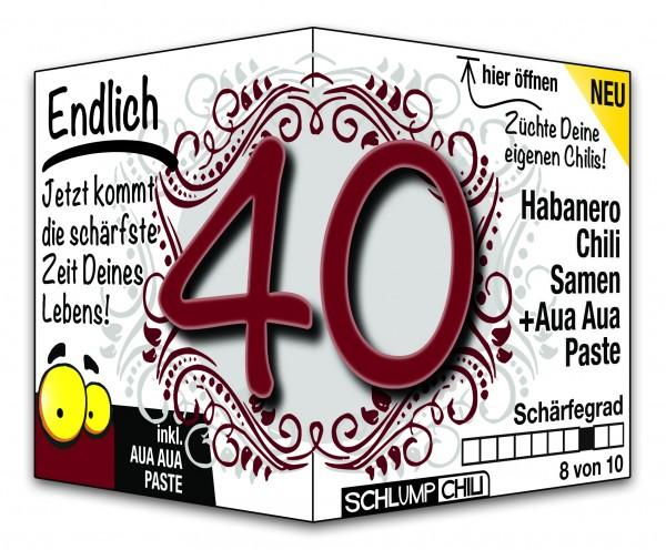 Endlich 40 - Ein scharfes Geschenk zum Geburtstag!