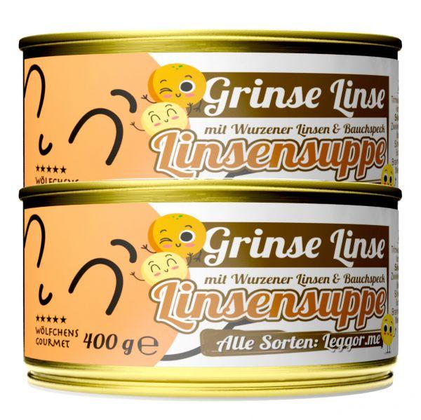 GRINSE LINSE Linsensuppe in der Dose 2er Set