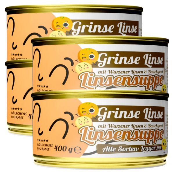 GRINSE LINSE Linsensuppe in der Dose 4er Set