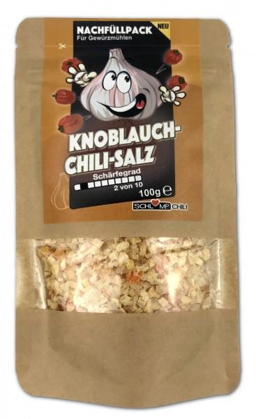 100 g Knoblauch Chili Gewürzsalz Nachfüllpack für Gewürzmühlen