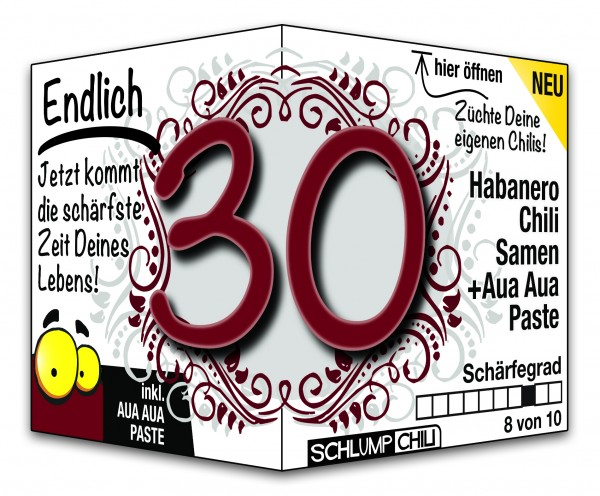 Endlich 30 - Ein scharfes Geschenk zum Geburtstag!