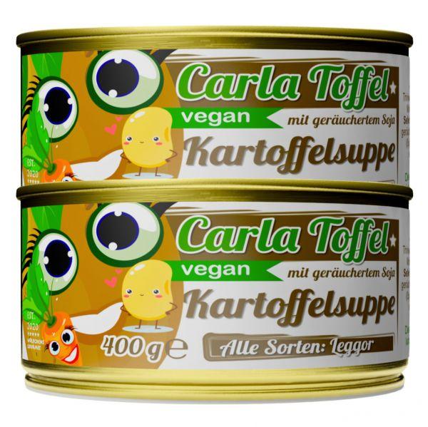 CARLA TOFFEL⎪vegane Kartoffelsuppe mit geräuchertem Soja (2 x 400g)