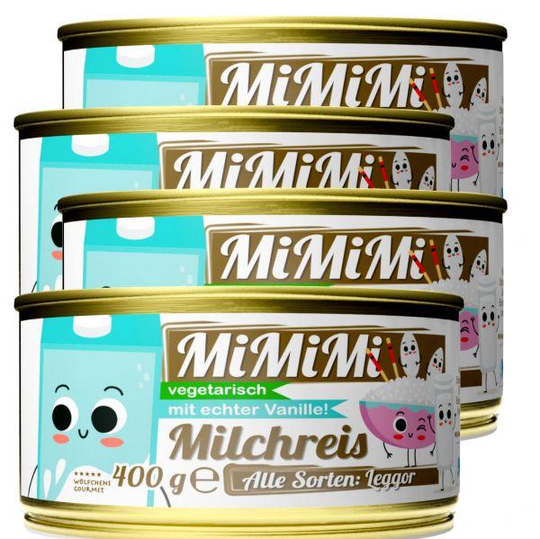 MIMIMI⎪Milchreis in der Dose Fix und Fertig⎪Mit echter Vanille, Zimt und Limettenzeste (4 x 400 g)