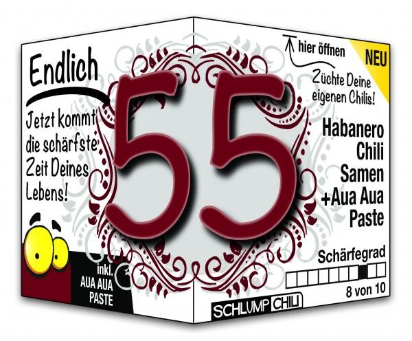 Endlich 55 - Ein scharfes Geschenk zum Geburtstag!