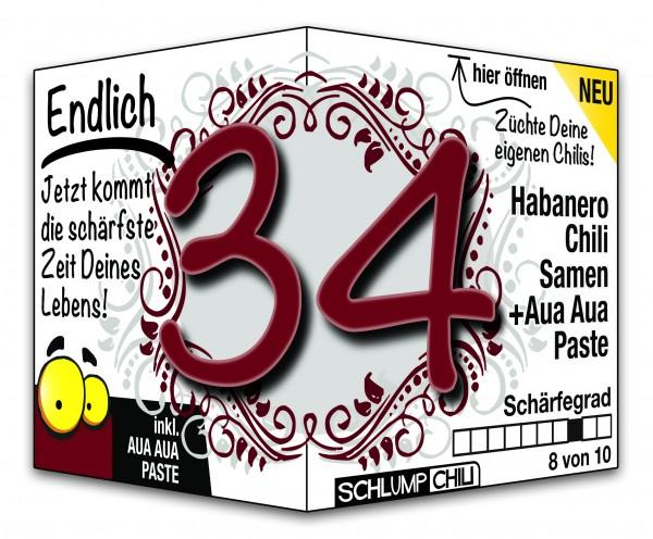 Endlich 34 - Ein scharfes Geschenk zum Geburtstag!