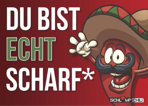 "Postkarte ""DU BIST ECHT SCHARF"""